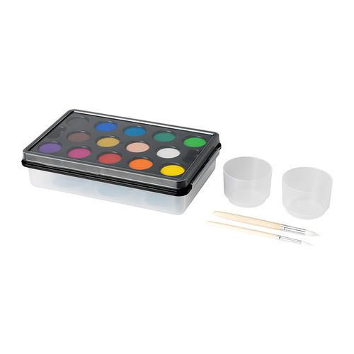 МОЛА Акварельные краски, разные цвета, 20193267, ИКЕА, IKEA, MALA
