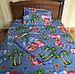 Полуторный комплект постельного белья 150х220 из бязи Влюбленные слоны, фото 3