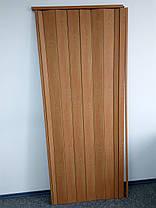 Двери гармошка глухая вишня 501,810х2030х6мм, доставка по Украине, фото 2