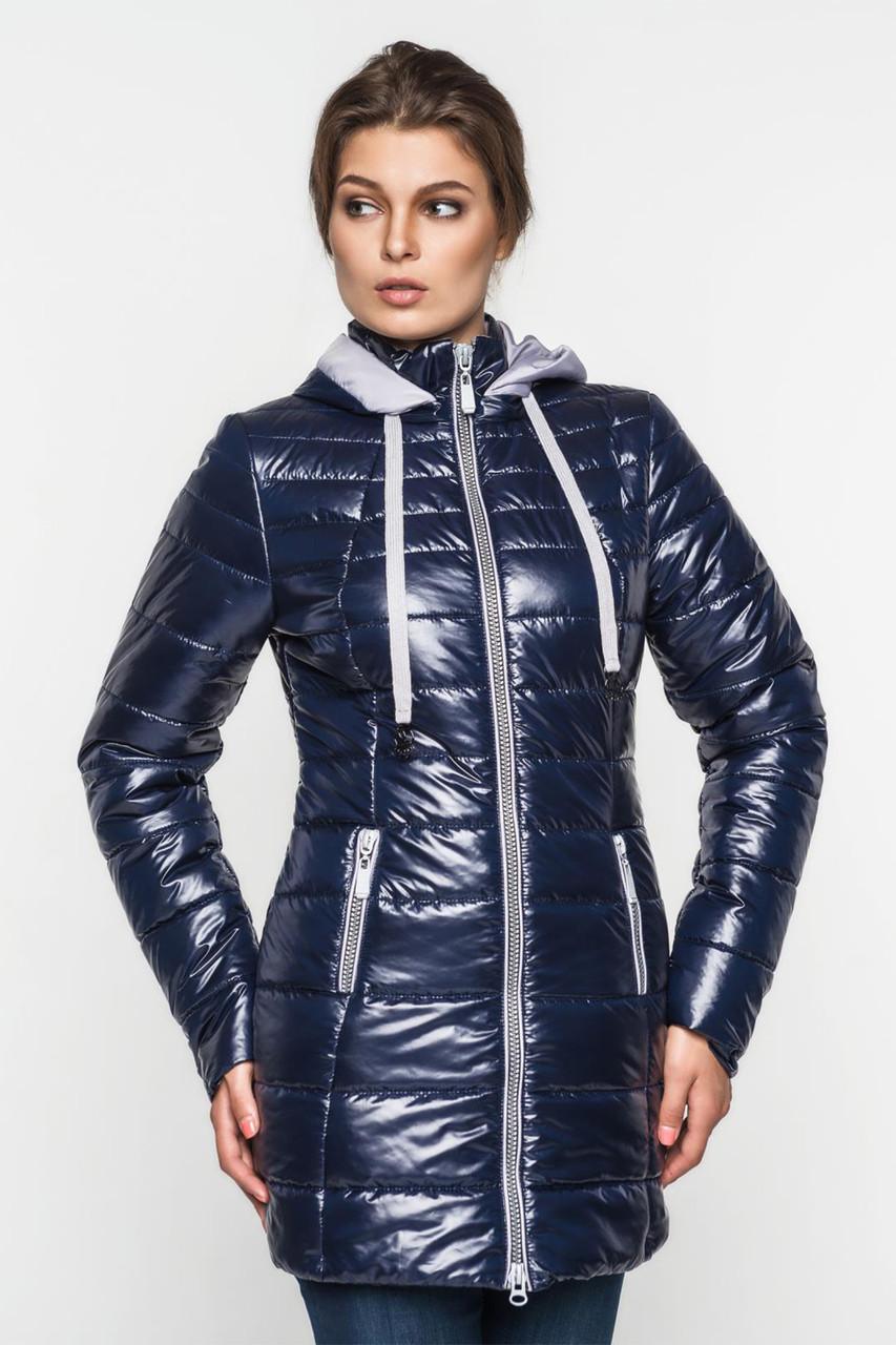 Длинная демисезонная женская куртка с капюшоном 90100, фото 1