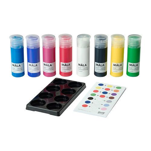 МОЛА Краска, разные цвета, 90193495, ИКЕА, IKEA, MALA