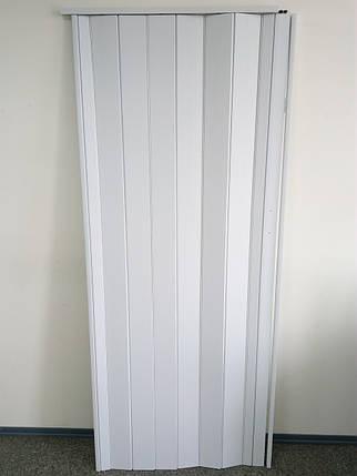 Дверь белая гармошка глухая 822, 810*2030*6 мм, Днепропетровск,, фото 2