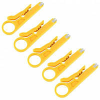 Сети UTP кабель резак плоскогубцы для зачистки 5шт Жёлтый