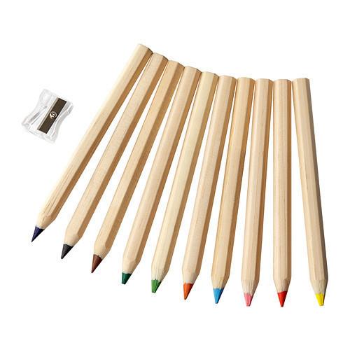 МОЛА Цветной карандаш, 10 шт., 30193318, ИКЕА, IKEA, MALA