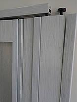 Межкомнатная раздвижная полу остекленная дверь  белый ясень 610,860х2030х12мм, фото 3