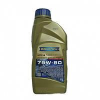 Масло трансмиссионное синтетическое Ravenol (масло в коробку Равенол) 75W-80 MTF-2 GL-4 1л