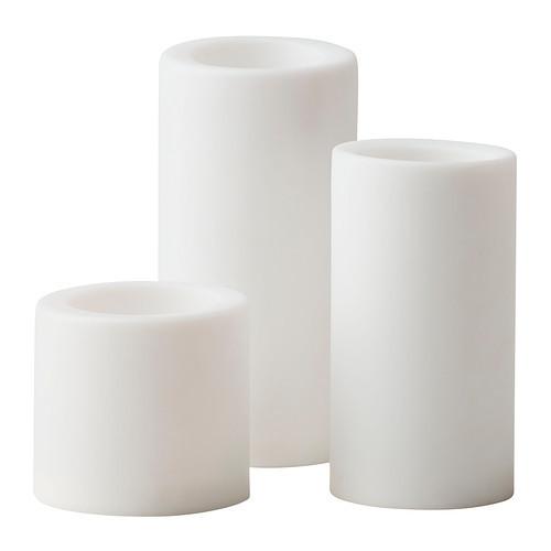 ИКЕА СТОПЕН Светодиодная формовая свеча, 3 шт., с батарейным питанием,
