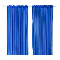 ВИВАН Гардины, 1 пара, темно-синий, 145x300 см, 00341565, ИКЕА, IKEA, VIVAN