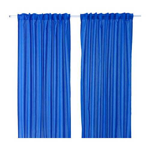 ВИВАН Гардины, 1 пара, темно-синий, 145x300 см, 00341565, ИКЕА, IKEA,