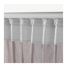 ВИВАН Гардины, 1 пара, серый, 145x300 см, 00297567, ИКЕА, IKEA, VIVAN, фото 3