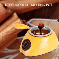 Электрический шоколадный плавильный котел для фонда фондю Жёлтый