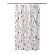 РОЗЕНФИББЛА Штора для ванной, белый, цветочный орнамент, 00324797, ИКЕА, IKEA, ROSENFIBBLA