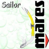 Трубка Mares SAILOR для дайвинга (желтая)