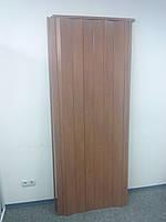 Дверь гармошка межкомнатная пластиковая глухая вишня 806, 810*2030*6мм