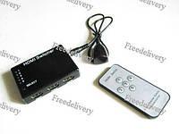 5-портовый HDMI свич селектор переключатель + пульт