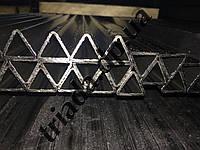 Труба 22х22х22х1,5 сварная стальная треугольная