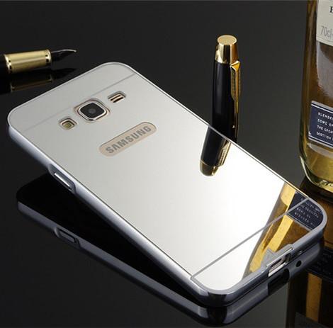 Чехол для Galaxy J3 2016 / Samsung J320 / J3109 зеркальный серебристый