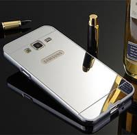 Чехол для Galaxy J3 2016 / Samsung J320 / J3109 зеркальный серебристый, фото 1