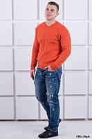 Мужской свитер 1926 кирпичный