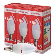 Светодиодная лампа Economka 6w СУПЕРПАК E14 свеча 4200K