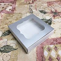 Коробка  металлик с окном для пряников, печенья 120*120*30