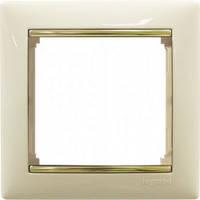 Рамка 1 пост Legrand Valena 774151 слоновая кость / золото