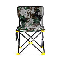 Складной многофункциональный стульчик для рыбалки камуфляжный