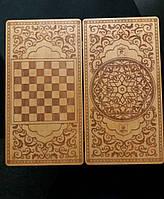 Игровой набор 2в1 нарды - шашки с гравировкой