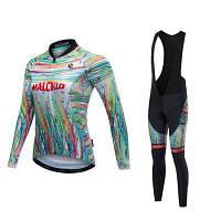 Malciklo 18 женский зимний компрессионный костюм для велоспорта XS