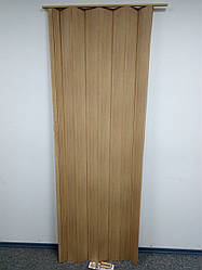 Дверь ширма гармошка, 503 бук , 820х2030х0,6 мм, раздвижные межкомнатные пластиковые глухие