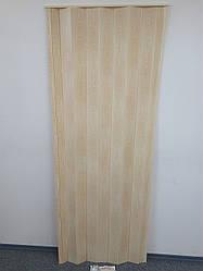 Дверь ширма гармошка, 7012 сосна, 820х2030х0,6 мм, раздвижные межкомнатные пластиковые глухие