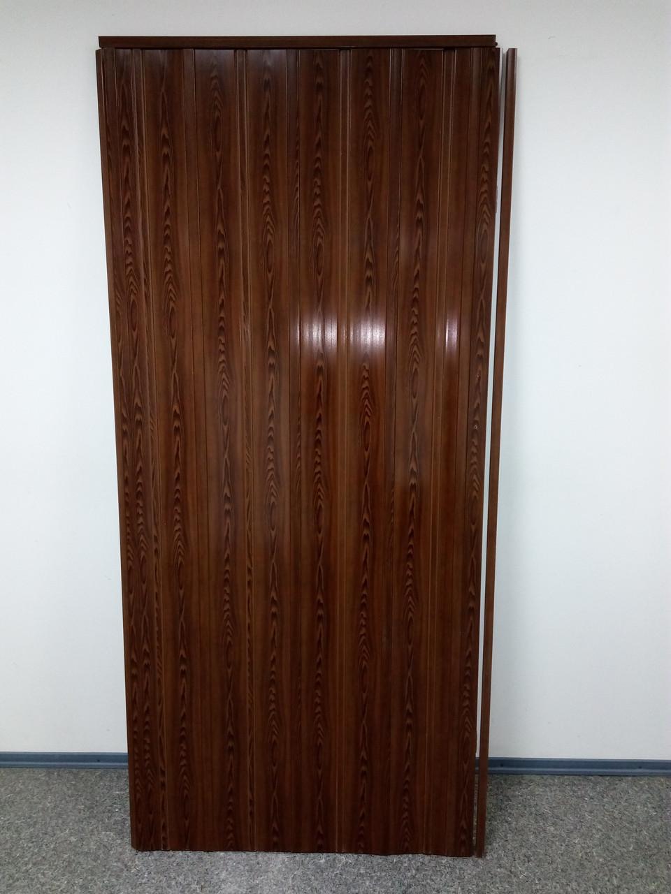 Дверь гармошка глухая ЭЛИТ, 6012 дуб рустик, 880х2030х10 мм