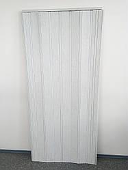 Дверь гармошка глухая ЭЛИТ, 813 дуб белый, 880х2030х10 мм