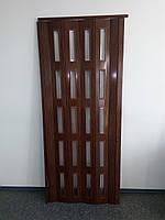 Дверь гармошка остекленная 860х2030х6 мм  дуб классик 715 гармошка раздвижная