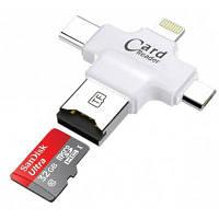4-в-1 Многофункциональный USB OTG кард-ридер UO-7782