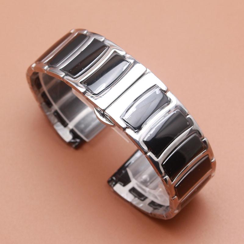 c0ac4956 Браслет для часов сталь + керамика. Черный. 22-й размер.: продажа ...