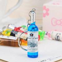1шт творческий брелок с дизайном винной бутылки Цветной