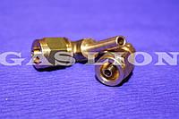 Переходник угловой D6 для термопластиковой трубки (фитинг)