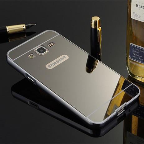 Чехол для Galaxy J3 2016 / Samsung J320 / J3109 зеркальный черный