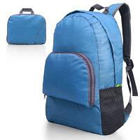 Ультралегкий портативный складной рюкзак для туризма унисекс синего цвета нагрузка 20л Синий