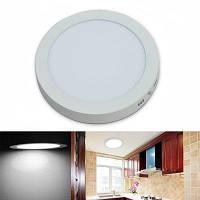 Jiawen светодиодная панель света 24w круглые светодиодные потолочные светильники AC 85-265V Холодный белый свет