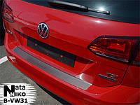 Накладка на задний бампер Volkswagen Golf VII Combi