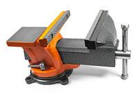 Тиски поворотные слесарные с наковальней POWERMAT PM-IS-150 150 мм / 6″