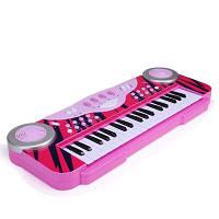 Пластиковые игрушки для музыкальных инструментов обучение фортепианной клавиатуре для детей Розовый
