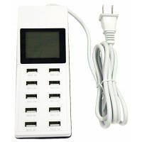 Новый 65W 100-240V 10USB 10.2A с A дисплеем USB смарт зарядная вилка Великобритания