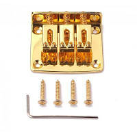 3 струнный тремоло бридж и аксессуары для гитары Золотой
