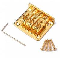 3 струнный тремоло бридж и аксессуары для электрогитары Золотой