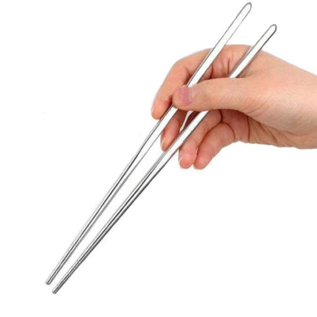 Палочки для еды из металла набор 5 пар