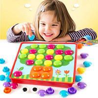 3D Пазлы Игрушки для детей творческий мозаичный гвоздь набор обучающие игрушки кнопка искусства игрушки для дети разные цвета
