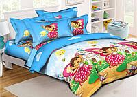 Детское постельное белье Дора 150*220 хлопок (7632) TM KRISPOL